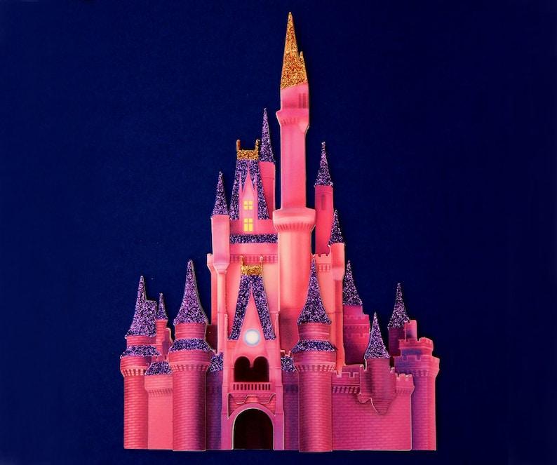 Disney Castle At Night Cinderella S Castle At Night Etsy