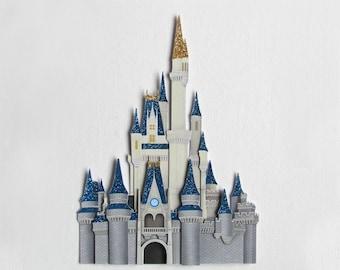 Disney castle - Cinderella's castle - handmade scrapbook embellishment