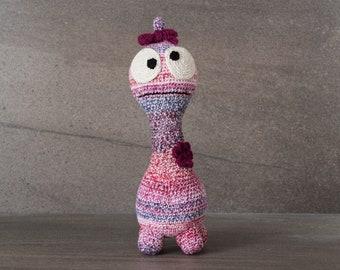 Crochet. Amigurumi. Cynthia the Crocheted Critter; handmade, baby, newborn toy, softie, gift.