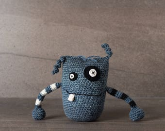 Crochet. Amigurumi. Vincent the Monster; handmade, crocheted animal, teenager, toy, softie, gift.