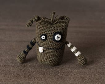 Crochet. Amigurumi. Alfie the Mini Monster; stress ball, handmade, crocheted critter, executive toy, softie, gift.