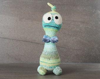 Crochet. Amigurumi. Dudley the Crocheted Critter; handmade, baby, newborn, toy, softie, gift.