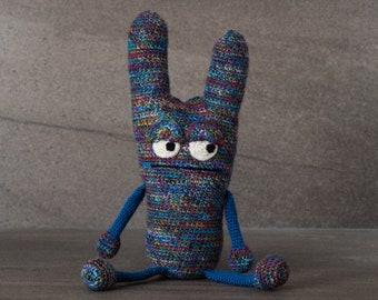Crochet. Amigurumi. Haywood the Crocheted Critter; handmade, baby, child, toy, softie, gift.