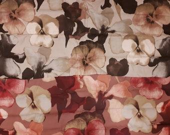 3fa0aa966e7 Scandinavische stof canvas katoen stof middelzwaar bloemen stof
