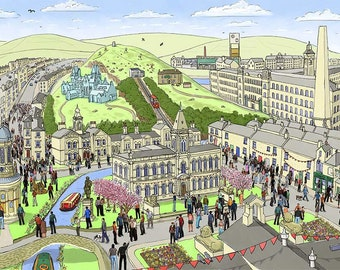 Saltaire Village in Spring