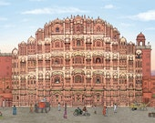 Illustrated Hawa Mahal In...