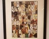 Alpaca A4 art print...