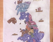 Cafe tea towel British br...