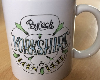 Yorkshire Rose illustrated mug