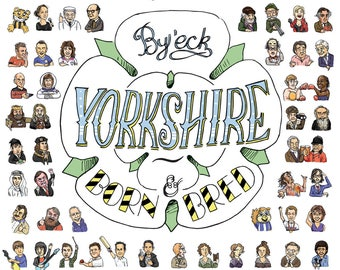 Yorkshire white rose tea towel