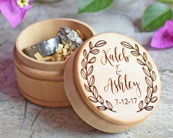 Wedding Ring Box, Wooden Ring Box, Personalized Wedding Ring Box, Ring Bearer Box, Wedding Rings Holder, Rustic Ring Box