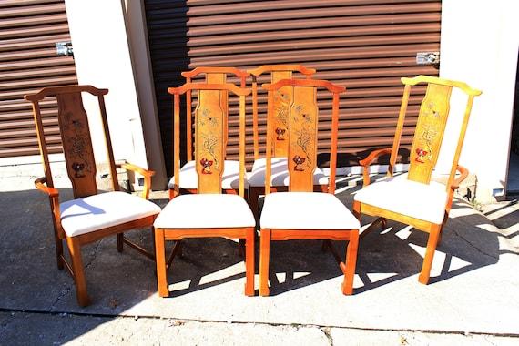 SALE Vintage Broyhill Oriental Scene Dining Set   Etsy