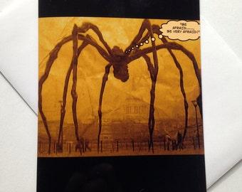 Halloween Card - Spider Halloween Card - Scary Halloween Card - Giant Spider Card - Creepy Halloween Card