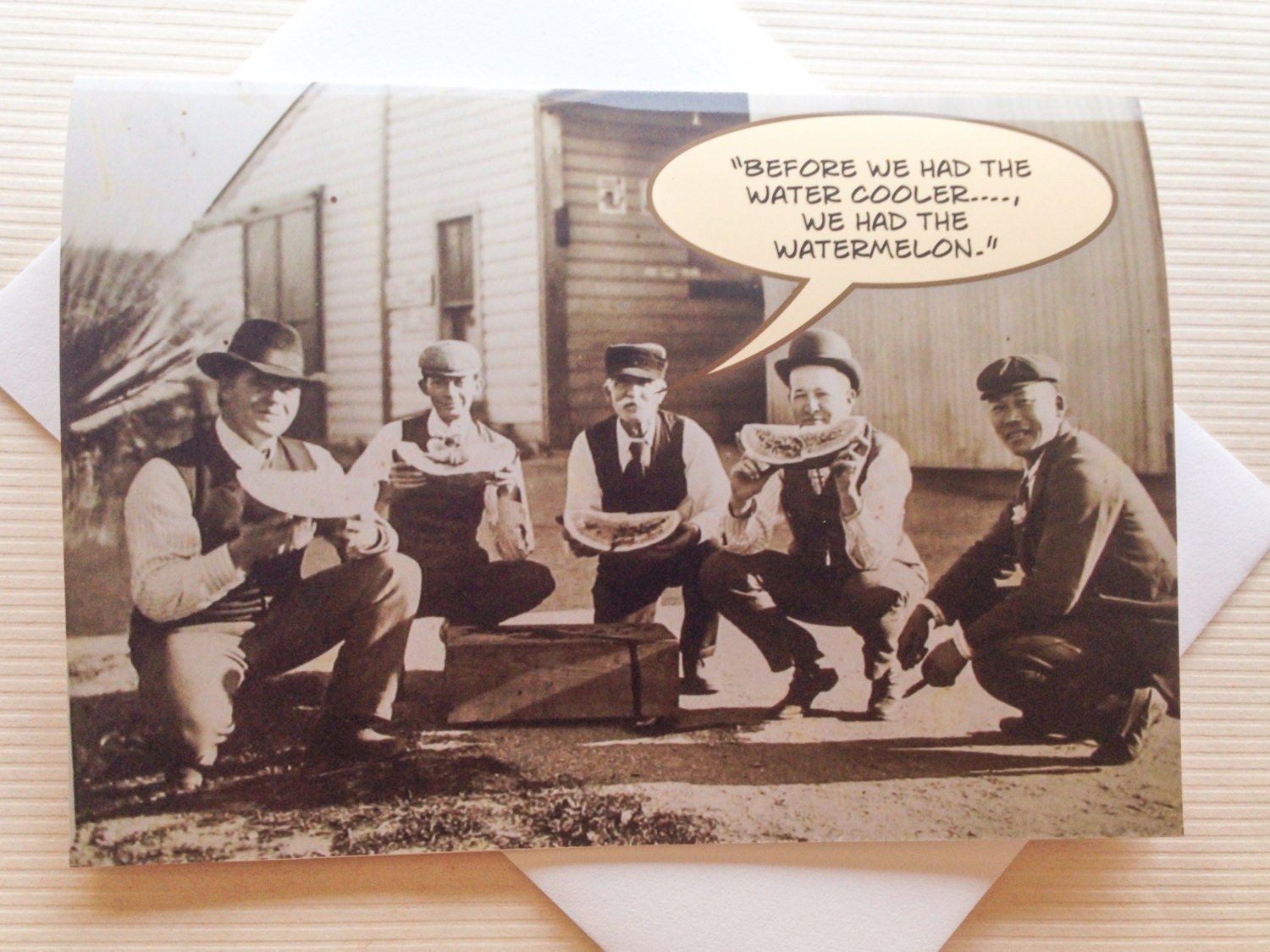 Vintage Funny Photo Card Old Greeting