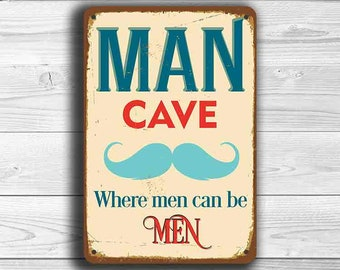 MAN CAVE SIGN, Man Cave Signs  Vintage Style Man Cave Sign, Man Cave Art, Man  Cave Decor, Man Cave Wall Decor, MAn Cave Stuff, Man Cave
