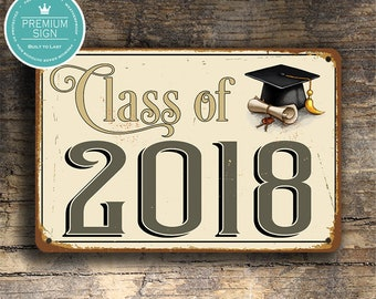 Class Of 2018 Sign Etsy
