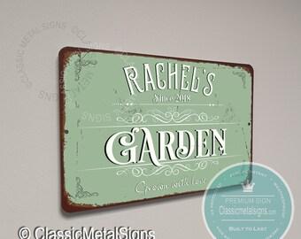 Steel Metal Hanging Garden Sign Wall Art Gift /'Grandmas Shed/'