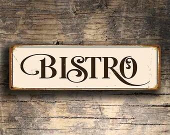 BISTRO SIGN, Bistro Signs, Bistro Sign, Custom Bistro Signs, Kitchen Decor, Restaurant decor, Bistro Wall Hanging, Vintage Style Bistro Sign