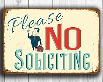 NO SOLICITING SIGN, No Soliciting Signs, Vintage style No Soliciting Sign, Please No Soliciting Sign, No Solicitation, No Solicitors Signs
