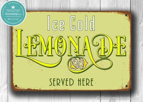 lemonade sign lemonade signs vintage style lemonade sign etsy