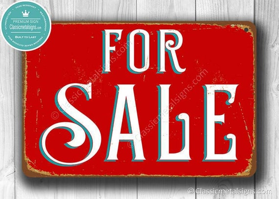 Vintage Signs For Sale >> For Sale Sign Sale Signs For Sale Vintage Style For Sale Etsy