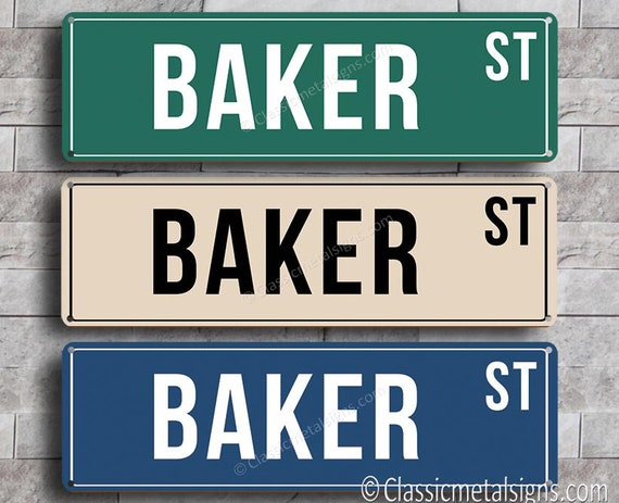 Personalized Street Signs >> Custom Street Sign Personalized Street Sign Classic Style Etsy