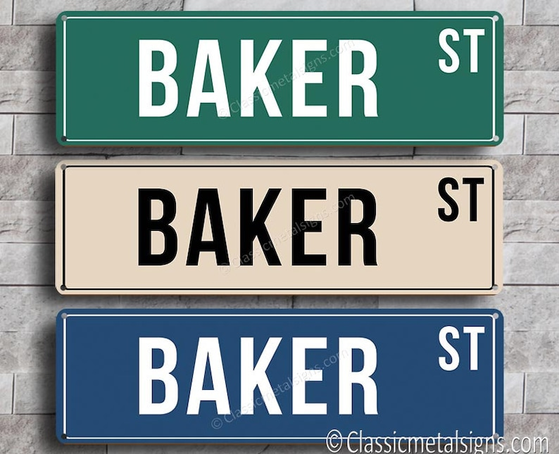 Personalized Street Signs >> Custom Street Sign Personalized Street Sign Classic Style Street Sign Customizable Sign American Street Sign Street Sign Decor Street