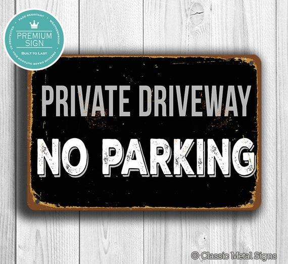 CGSignLab Modern Block Premium Acrylic Sign 27x18 No Parking