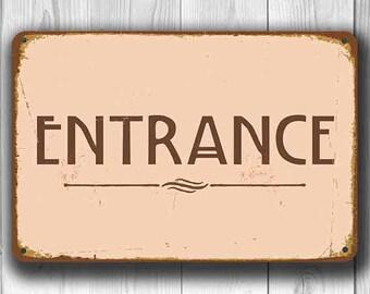 ENTRANCE SIGN, Entrance Signs, Vintage style Entrance Sign, Entrance door sign, Entrance Hanging Sign, ENTRANCE Wedding Sign