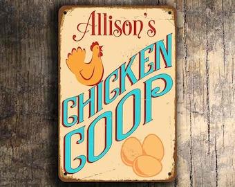 Custom CHICKEN COOP SIGN, Customizable Chicken Coop Signs, Vintage style Chicken Coop Sign, Chicken Coop Signs, Custom Outdoor signs, Coop