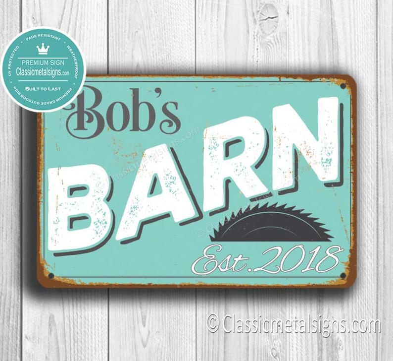 d88d3542ebbff Custom BARN SIGN, Customizable Barn Signs, Vintage style Barn Sign, Barn  Decor, Personalized Signs, Barn Gift