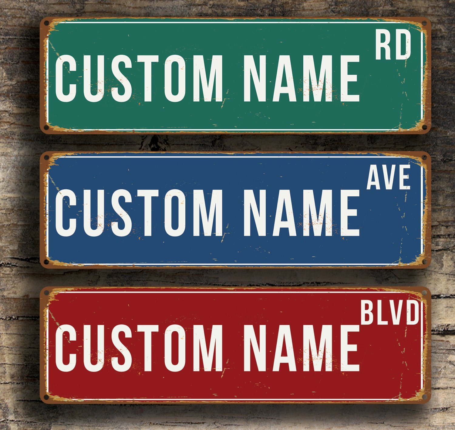 Custom ROAD SIGN, Vintage style Road Sign,personalized road sign, customizable road signs, Road Signs, Customizable Street Sign, Road Signs
