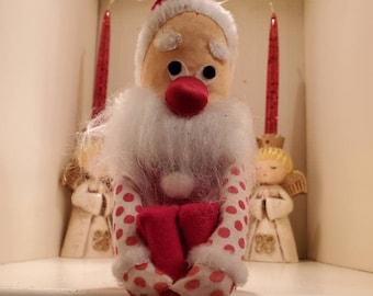 Vintage Rice-Bayersdorfer Knee Hugger Santa Made In Japan Santa Knee Hugger Elf