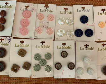 Large collection of vintage buttons.