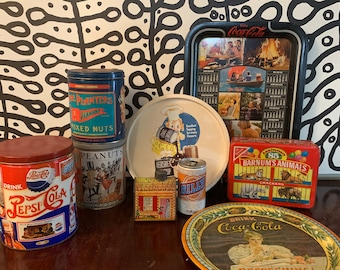 Vintage Collection of 10 Advertising Tins.