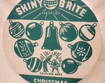 Hand Painted Shiny Brite Wall Art Vintage Shiny Brite Glass Ornament Original Box Art Shiny Brite Christmas Decoration
