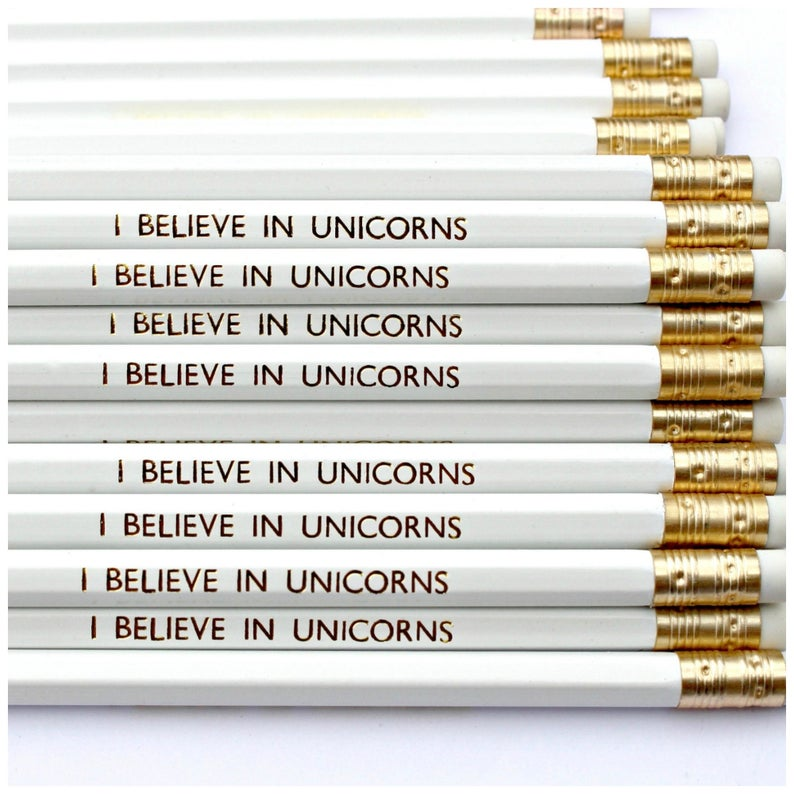 I Believe in Unicorns Pencil  Stationery  Pencils with image 0