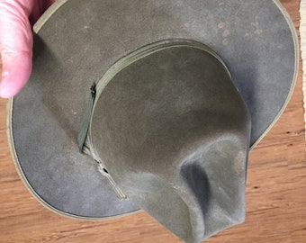 Vintage Cowboy Hat ~ Open Road Style ~ Needs A Good Cleaning ~ Greenish  Color 6c2da6fd899
