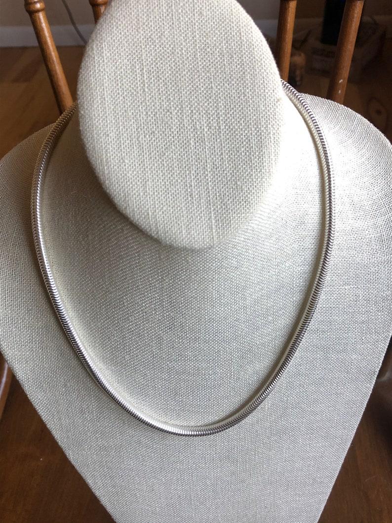 Vintage ~ Sterling Silver Necklace ~ 20 Long ~ 40 Grams ~ Lot 23