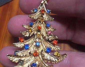 Vintage Christmas Tree Pin ~ Brooch
