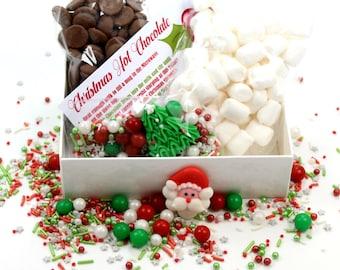 christmas hot chocolate kit foodie gift hot chocolate christmas gift christmas chocolate marshmallows sprinkletti sprinkles