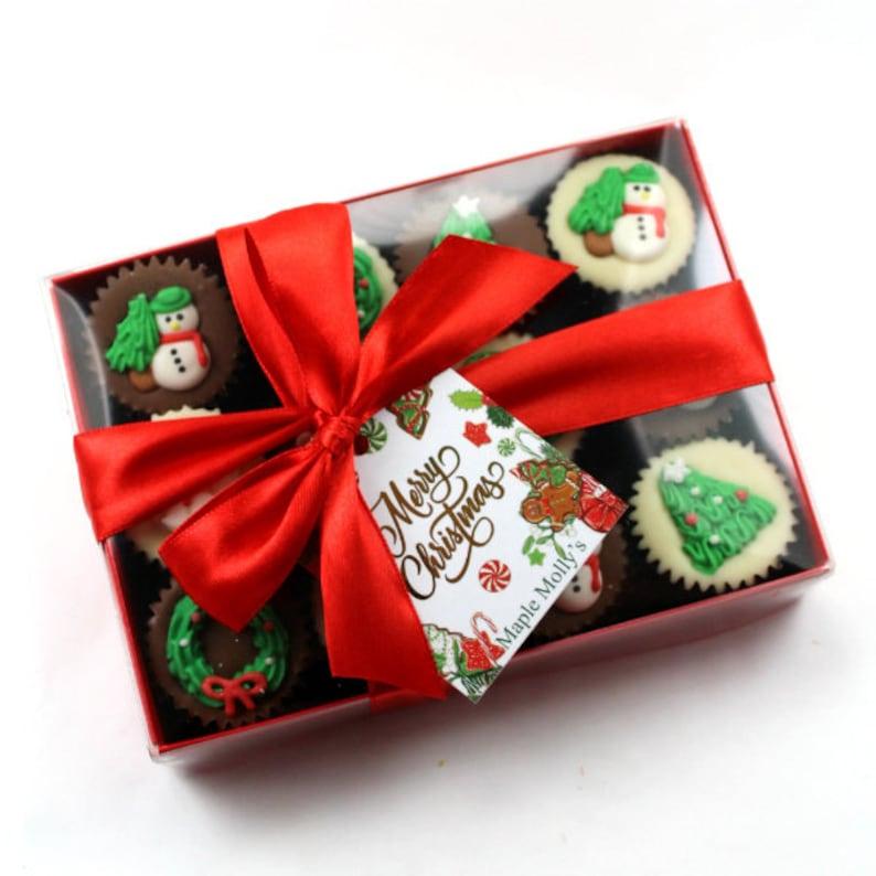 Christmas Gift Box.Gift Box Of 12 Mini Chocolate Cakes Christmas Gift Novelty Gift Stocking Filler New Iced Santa Christmas Chocolate Gift