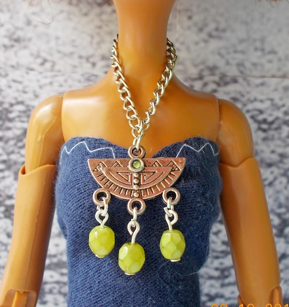 """Fashion Necklace and Earring Jewelry Set fits 16/"""" Tonner doll 185B"""