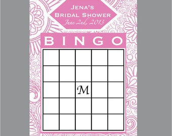 DIY Printable Bridal Shower Bingo