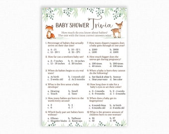 hyb41 Virtual Baby Shower Games Bundle,Baby Shower Games,Virtual Baby Shower,Woodland Baby Shower,Animal Baby Shower,Quarantine Baby Shower