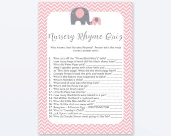 baby shower games nursery rhyme quiz game superhero baby etsy