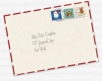Superior Printable Envelope For Letter From Santa Or Christmas Letter Printable  Download   Santas Envelope