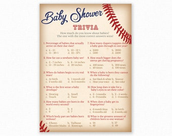 Baby Shower Games Baby Trivia Game Baby Shower Trivia Etsy