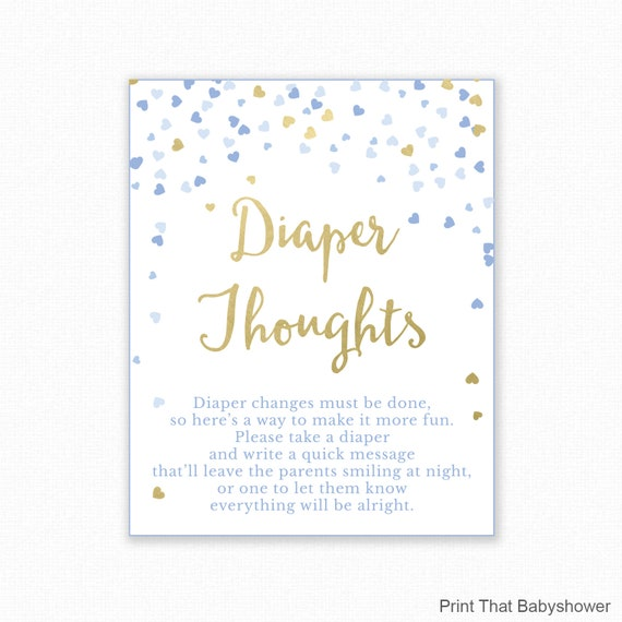 Baby Shower Game Diaper Thoughts Boy Baby Shower Nappy Thoughts Write On Diaper Message Game Printable Baby Shower Diaper Game