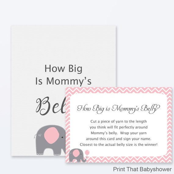picture about How Big is Mommy's Belly Free Printable referred to as Little one Shower Video games - How Large is Mommys Abdomen Sport, Elephant